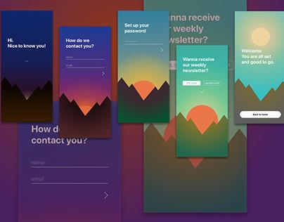 App Sign-Up UI