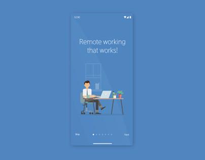 Remote Working App - Onboarding