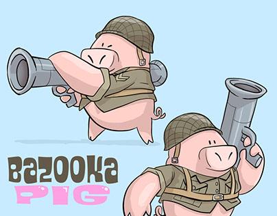 Fresco: Bazooka Pig