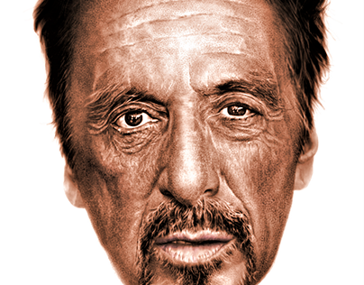 Al Pacino pixel portrait