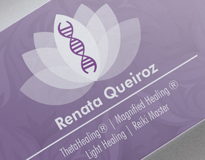 Renata Queiroz logo and business card