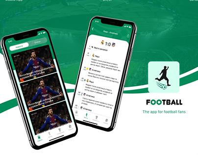 Mobile app for football fans