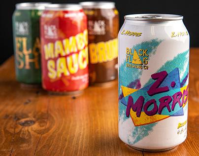 Black Flag Brewing Co. Beer Label Designs