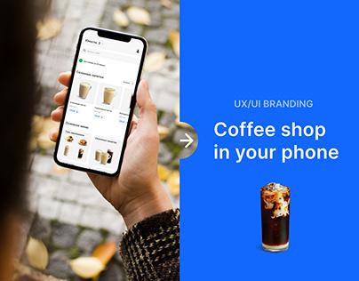 UX/UI Branding Coffee shop App