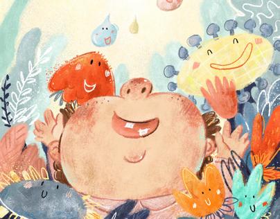 Illustrations of children's books