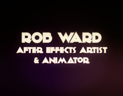 Freelance After Effects Showreel 2013 Rob Ward