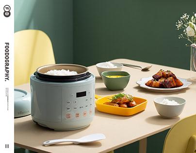 小家电摄影 | 小熊迷你压力锅Rice cooker ✖ foodography