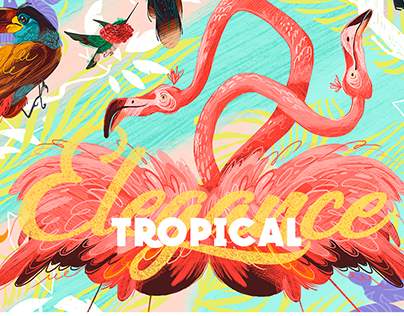 TROPICAL ELEGANCE, Illustrations Valisse Collection