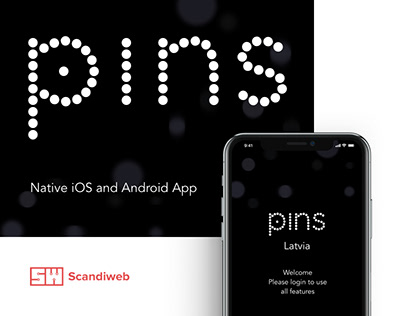 Pins - Native iOS & Android app design