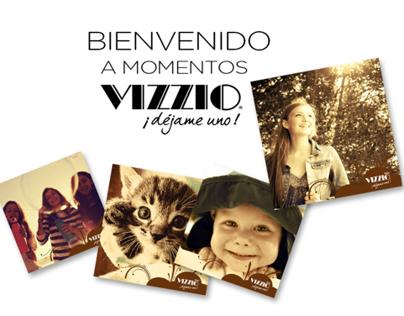 Vizzio - Facebook App - Momentos Vizzio