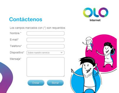 Olo - Facebook App - Contáctenos
