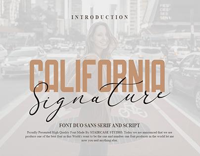 California Signature Font Duo