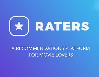 Raters – Recommendations platform for movie lovers
