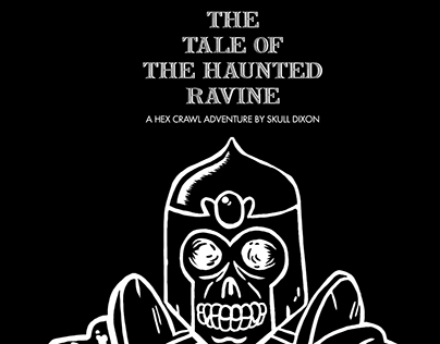 Haunted Ravine Hex Crawl Illustrations