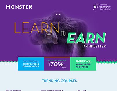 Monster UK Microsite - Online Courses