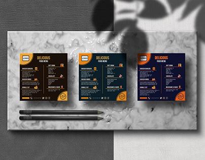 Restaurant Food Menu Design.