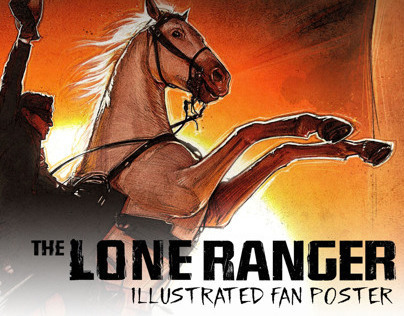 The Lone Ranger - Illustrated Poster