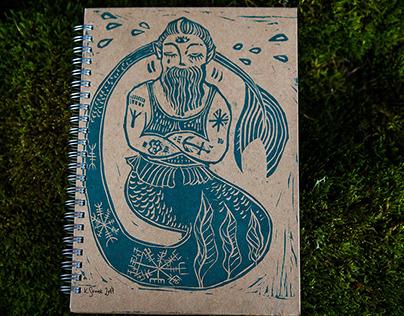 Linocut Notebooks