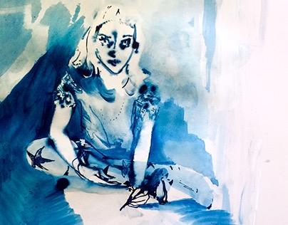 Self Portraits in Blue