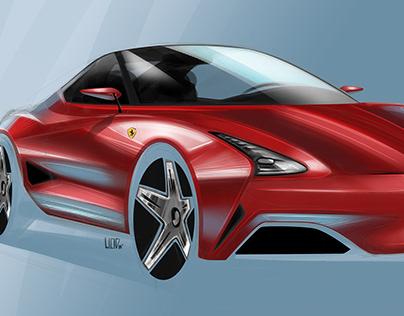 Ferrari Coupe Concept Sketch