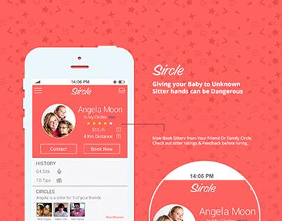 Book a Sitter ios Screen Designs