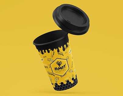 "Design for coffee cups ""Honey Coffee"""
