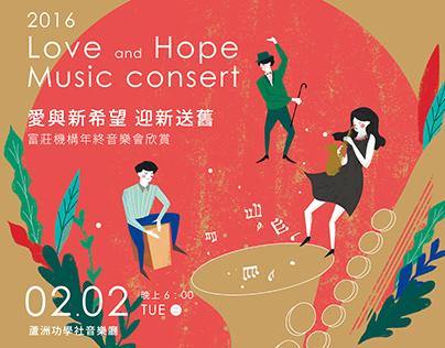 Love and Hope Music Consert Invetation