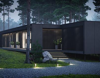 Проект модульного дома 150м2.