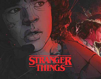 STRANGER THINGS, NETFLIX. Alternative poster