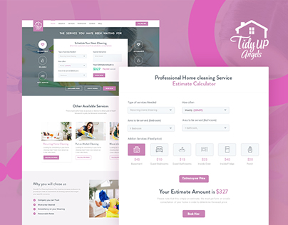 Tidyup angels website redesign