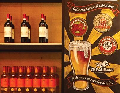 Craft beer restaurant chalkboard signage