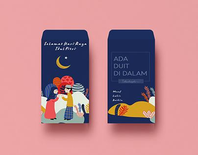 Cheerful Eid Ul-Fitr Money Packet