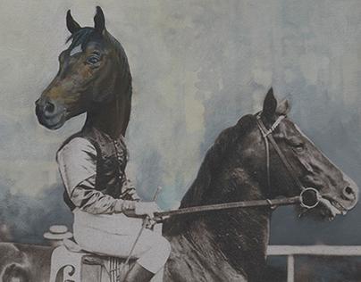 Autocratic horses |        Oil on paper | 2017