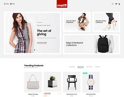 Mella - Minimalist Ajax eCommerce PSD Template