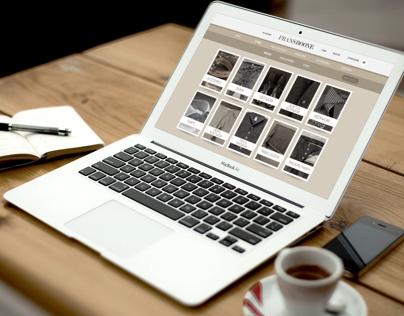 Webshop interface