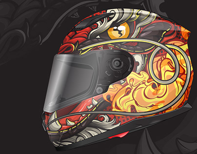 Dragon helmet design