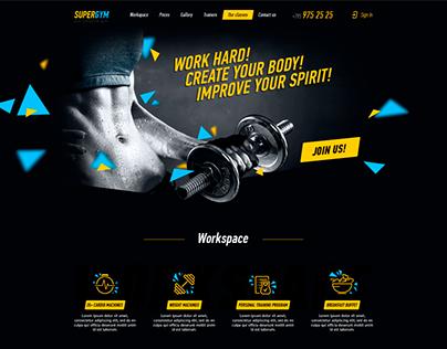 SuperGYM website