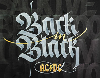 Classic Rock Calligraphy Collection