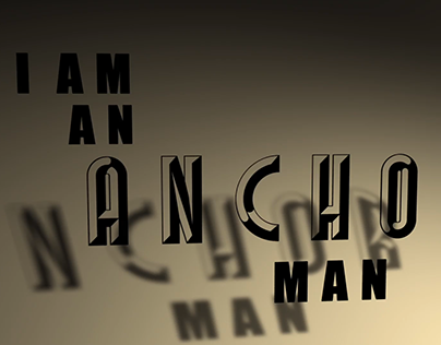 Anchor Man - Kinetic Typography