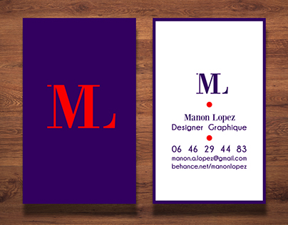 Business cards in 5 different styles