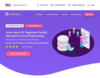 BitDegree Website Design Concept