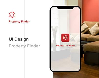 Property Finder   UI/UX Design   Mobile app design