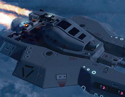PHOENIX Sci-Fi Spaceship