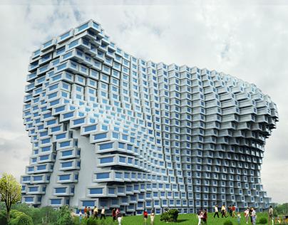 Cubist Architecture (Futuristic Housing)