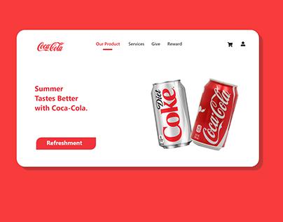 Coca Cola Web Redesign