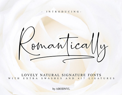 Free Romantically Signature Font