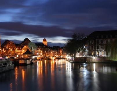 Amsterdam blurring night colors 2011