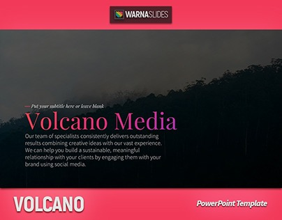 volcano powerpoint template (+free templates) on behance, Modern powerpoint