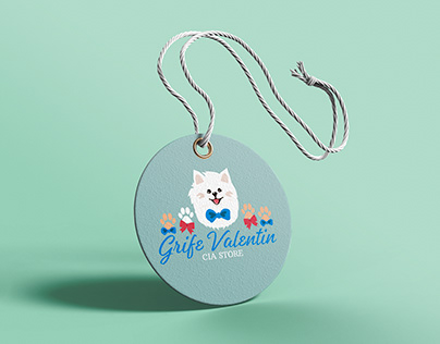 Logo Grife Valentin (Logo para loja de roupas de pets)