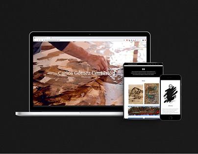 Gomez Centurión   Website for an artisit